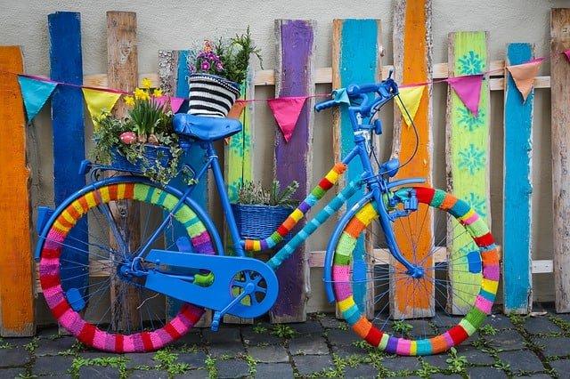 декорирано колело